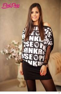 1548A Tunika PINK ROSE