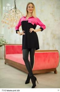 7110 Fekete -Pink bőr BEBE/2Be