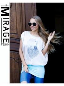 2887 Pipacs trikós tunika Mirage