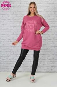 2176 Hímzett tunika Pink Rose