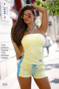 1754 Sárga-türkiz Short BEBE/2BE
