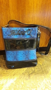 M1020 Fekete-kék táska Missq