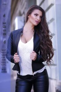 3606 Fekete Kabát BEBE/2BE