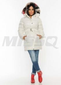 M1117 Emőke kabát valódi szőrrel Missq