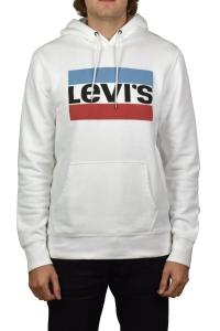 Levi's 19491-0025 fehér, kapucnis,kenguruzsebes Férfi Pulóver