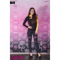 209 Fekete-sárga felső- PINK ROSE